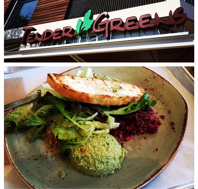 Venice Beach Tender Greens Happy Vegan Salad Green Hummus
